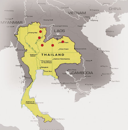 Refugee Camps Around The World Map.Thailand Refugee Camps