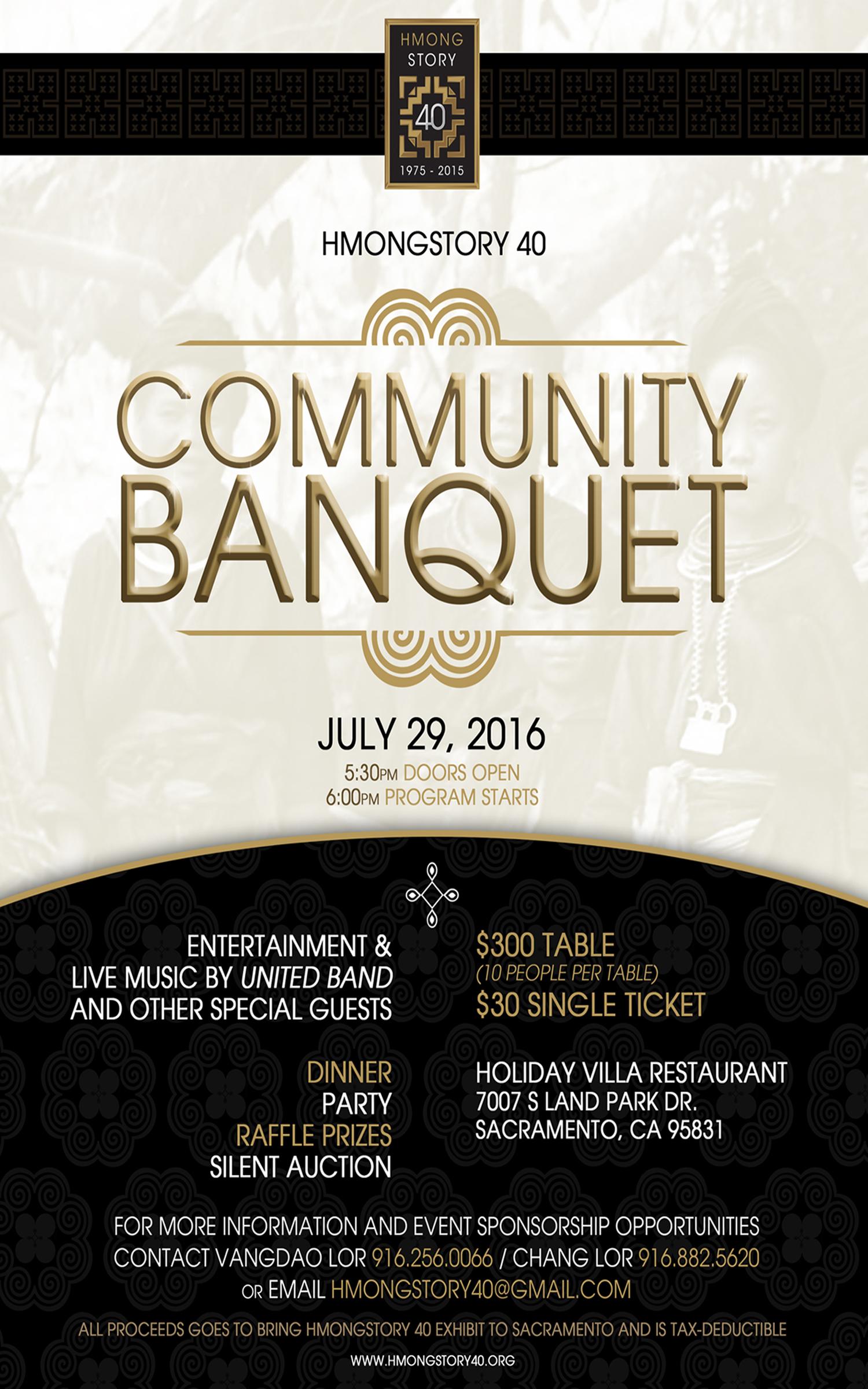 banquet flyer